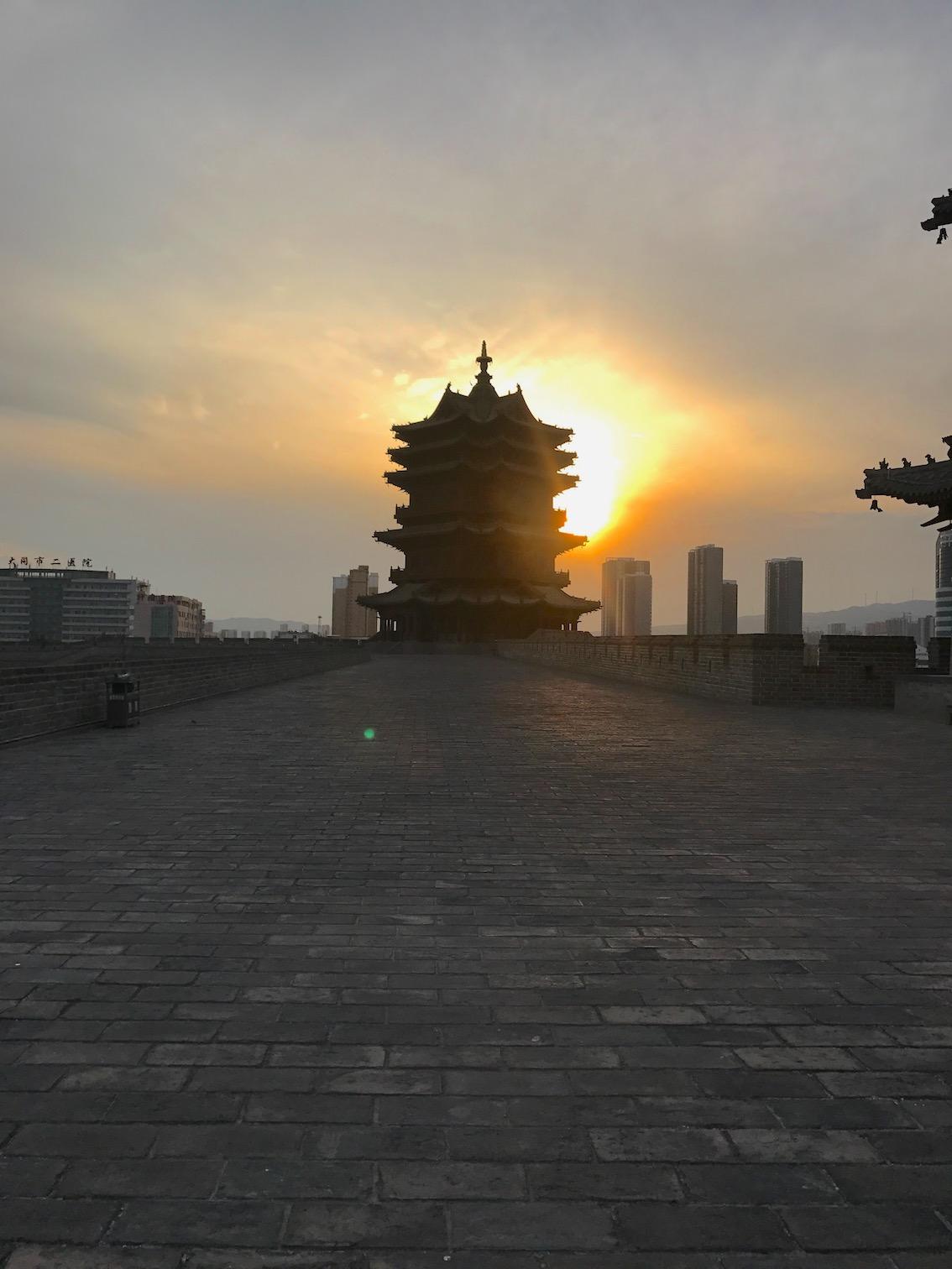 Datong-tramonto-sulle-mura